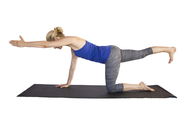 Bird dog yoga posture