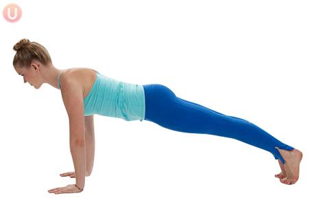 Plank yoga posture