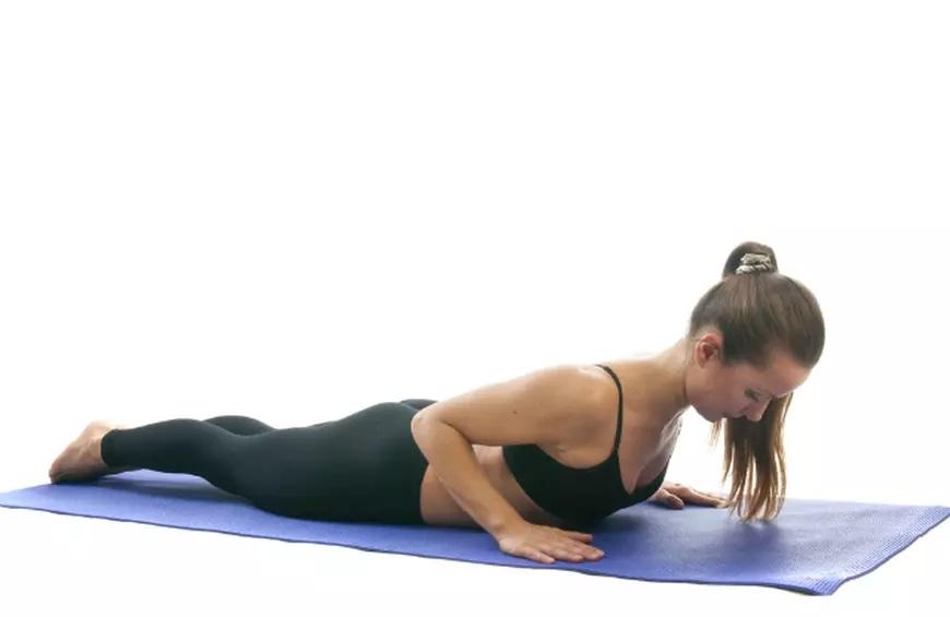 Baby Cobra yoga posture