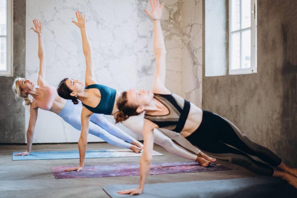 Side plank yoga posture
